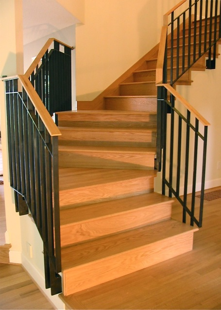 red oak treads and risers