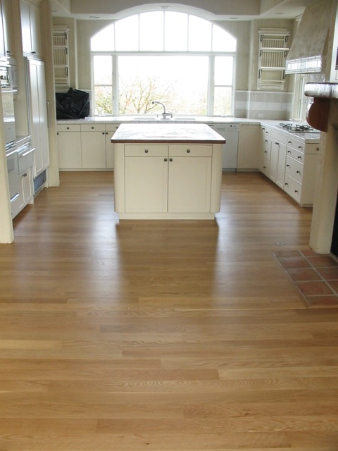 white oak with 3 coats satin natural
